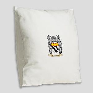 Clemente Family Crest - Clemen Burlap Throw Pillow