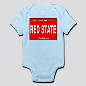 Red State Values Infant Creeper