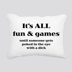 It's All Fun And Games Rectangular Canvas Pillow