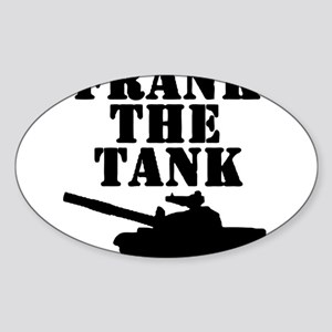 Frank The Tank Sticker (Oval)