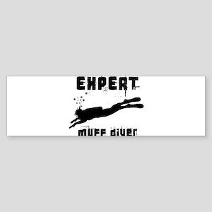 Expert Muff Diver Sticker (Bumper)