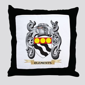 Clements Family Crest - Clements Coat Throw Pillow