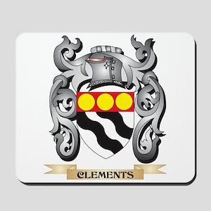 Clements Family Crest - Clements Coat of Mousepad