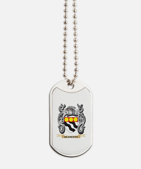 Clements Family Crest - Clements Coat of Dog Tags
