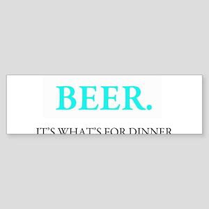 beeritswhatsfordinner Bumper Sticker