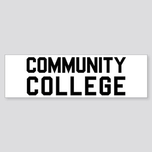 Community College Sticker (Bumper)