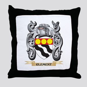 Clement Family Crest - Clement Coat o Throw Pillow