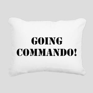 Going Commando Rectangular Canvas Pillow