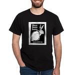 Rabbit Wood Block  Black T-Shirt