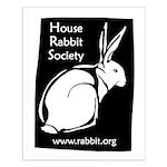 Rabbit Wood Block  Small Poster