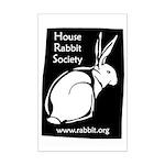 Rabbit Wood Block  Mini Poster Print
