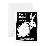 Rabbit Wood Block  Greeting Cards (Pk of 10)