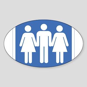 3way Sticker (Oval)
