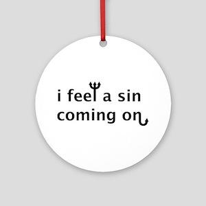 Sin2 Ornament (Round)