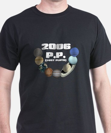 POST PLUTO Black T-Shirt