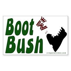 Boot Bush Sticker (Rectangular for Bike)