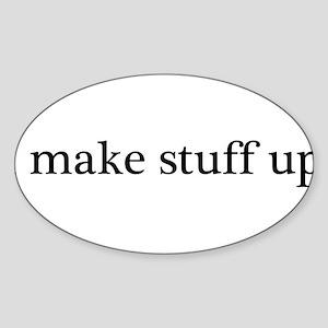 Stuff2 Sticker (Oval)