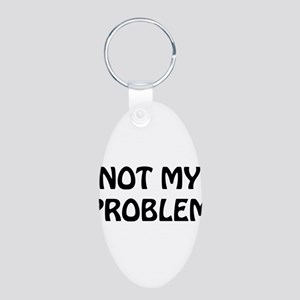 Problem2 Aluminum Oval Keychain
