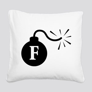 Fbomb2 Square Canvas Pillow