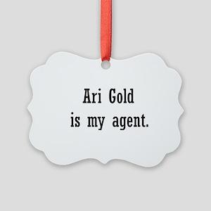 AriGoldAgent2 Picture Ornament