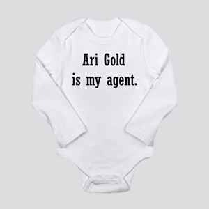 AriGoldAgent2 Long Sleeve Infant Bodysuit