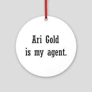 AriGoldAgent2 Ornament (Round)