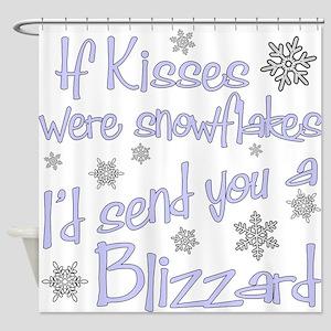 kiss blizzard Shower Curtain