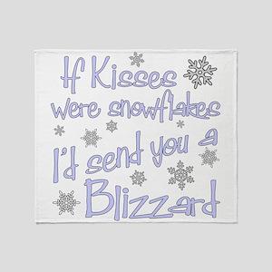 kiss blizzard Throw Blanket