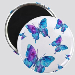 Electric Blue Butterfly Flurry Magnet