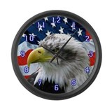 American flag Wall Clocks