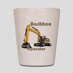 Backhoe Shot Glass