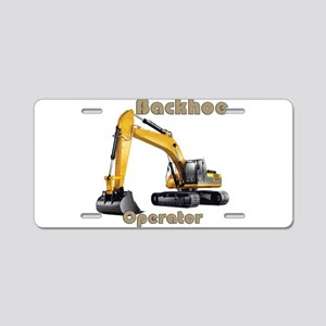 Backhoe Aluminum License Plate