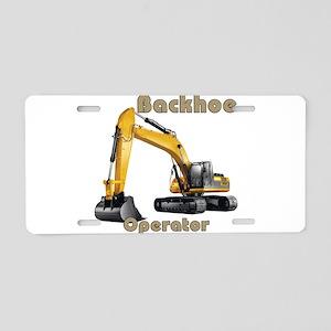 Backhoe Aluminum License Plate