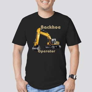 Backhoe Men's Fitted T-Shirt (dark)