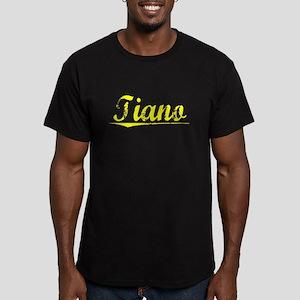Tiano, Yellow Men's Fitted T-Shirt (dark)