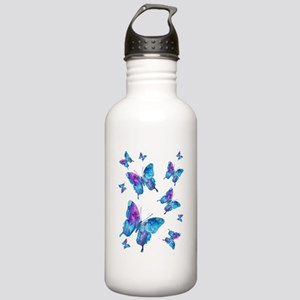 Electric Blue Butterfly Flurry Stainless Water Bot