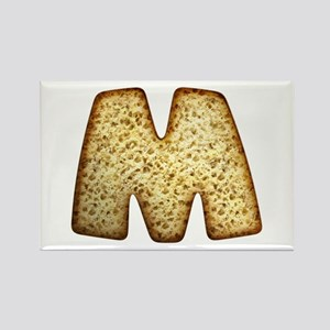 M Toasted Rectangle Magnet