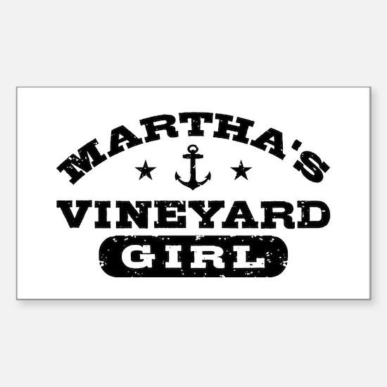 Martha's Viveyard Girl Sticker (Rectangle)