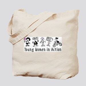 Young Women in Action Tote Bag