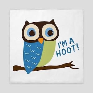 Owl Art I'm A Hoot Queen Duvet