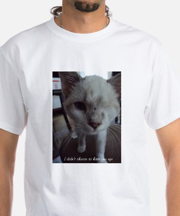 Support disabled cats-I didn't choose White T-Shir