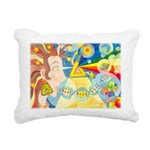 Creation Myth Watercolor Rectangular Canvas Pillow