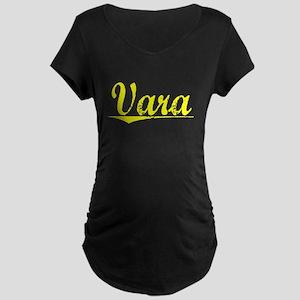 Vara, Yellow Maternity Dark T-Shirt