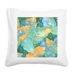 Early Frost Watercolor Square Canvas Pillow