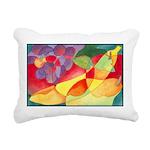 Fruit Montage Watercolor Rectangular Canvas Pillow