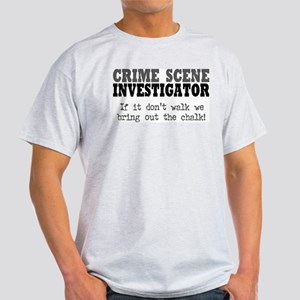 CSI Chalk Lines Ash Grey T-Shirt