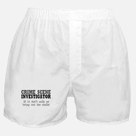 CSI Chalk Lines Boxer Shorts