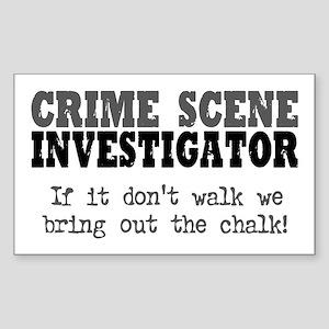 CSI Chalk Lines Rectangle Sticker