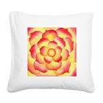 Flame Tip Flower Watercolor Square Canvas Pillow