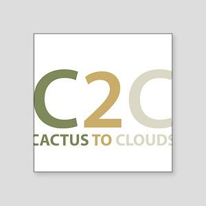 "Cactus to Clouds Square Sticker 3"" x 3"""